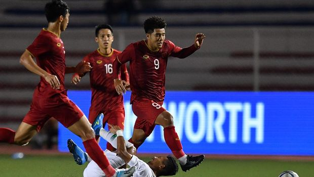 Timnas Indonesia U-23 hadapi Vietnam di final SEA Games 2019.