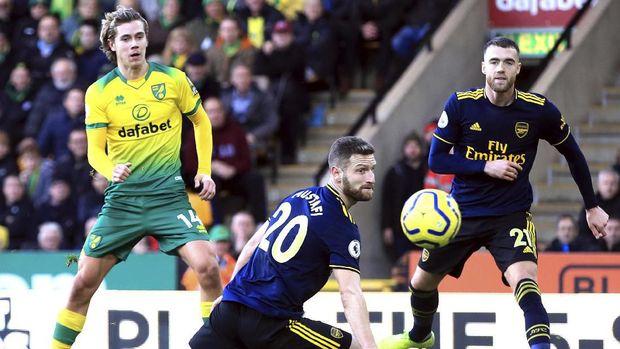 Norwich sempat unggul atas Arsenal di babak pertama.