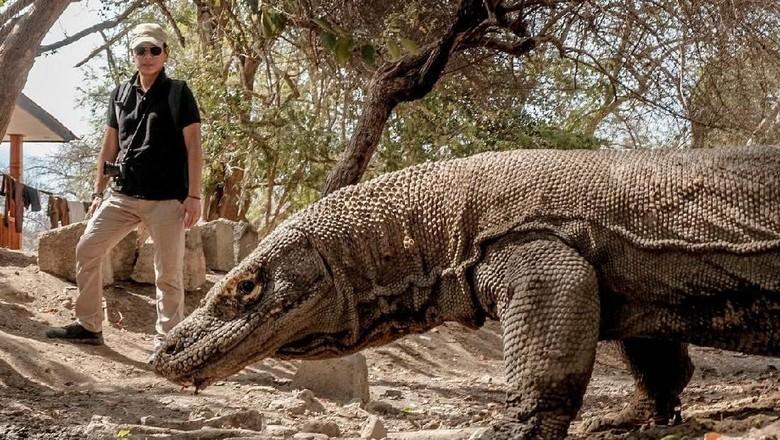 Menparekraf Wishnutama saat berkunjung ke Pulau Komodo (dok Kementerian Pariwisata dan Ekonomi Kreatif)