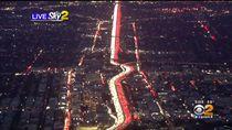 Seperti Bendera Indonesia, Ini Potret Kemacetan di Los Angeles