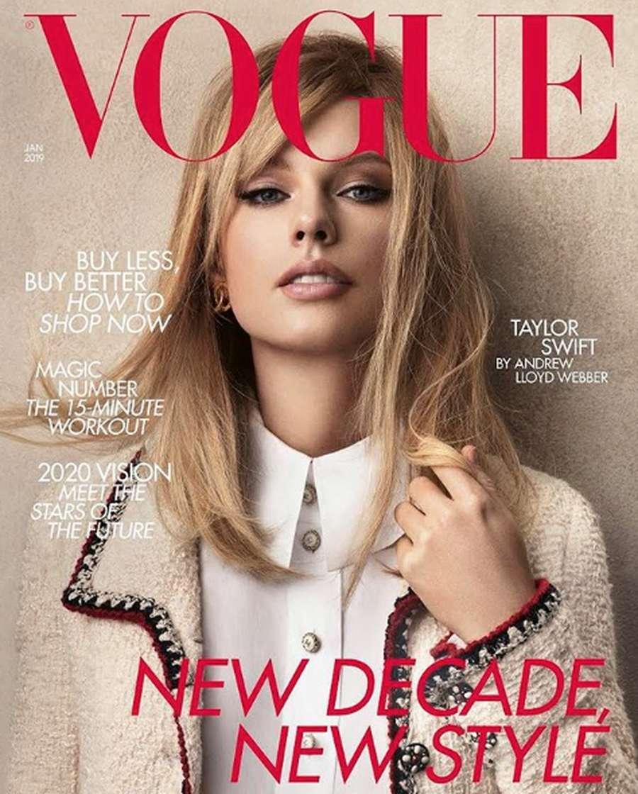 Beda! Pose Taylor Swift di Majalah Vogue