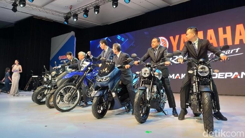 Peluncuran 3 motor Yamaha minus Valentino Rossi Foto: Luthfi Anshori