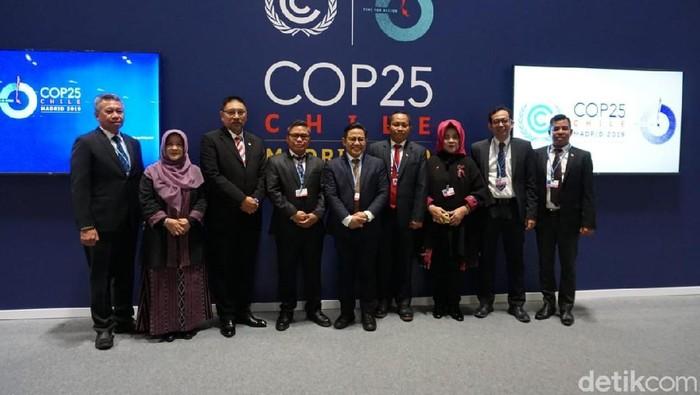 Wakil Ketua DPR Muhaimin Iskandar atau Cak Imin di Paviliun Indonesia UNFCCC-COP25. (Amelia/detikcom)