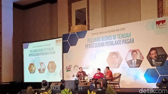 Chairul Tanjung hadiri acara Aprindo di Bali/Foto: Aditya Mardiastuti/detikcom