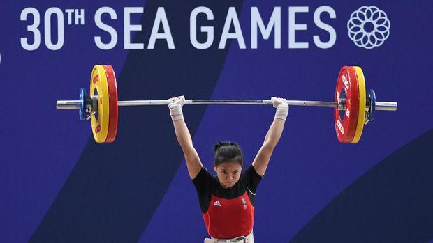 Cabang angkat besi bisa tambah emas pada hari keempat SEA Games 2019 ini.