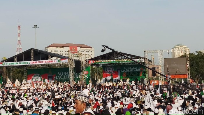 Foto: Reuni 212 (Farih Maulana Sidik/detikcom)