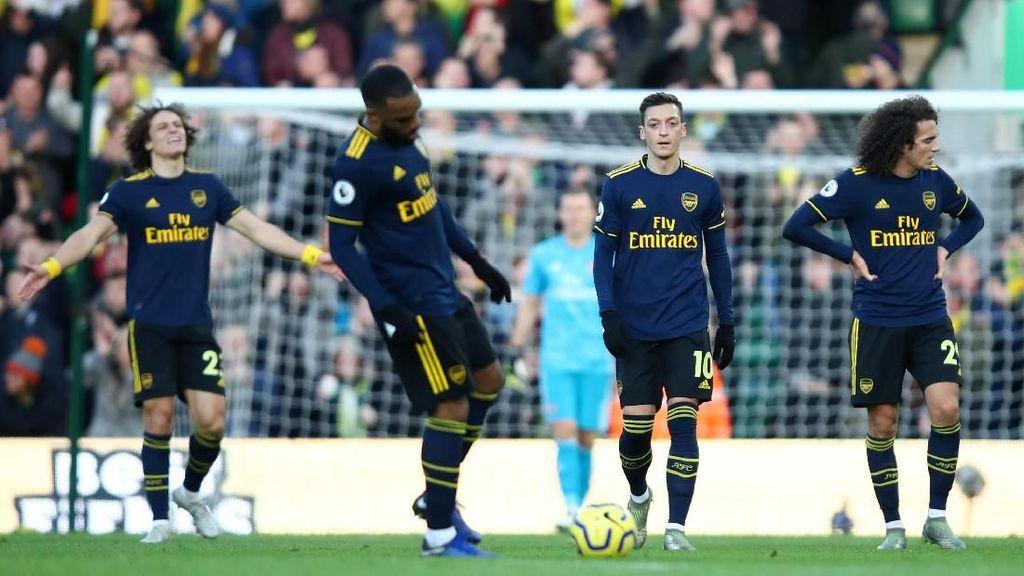 Laju Terburuk Arsenal di Liga Inggris dalam 8 Tahun
