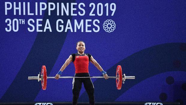 Angkat besi sudah sumbang tiga medali emas untuk kontingen Indonesia.