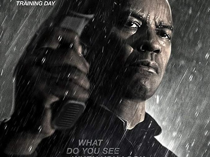 McCall (DENZEL WASHINGTON) takes out one of Slavis thugs (NASH EDGERTON) in Columbia Pictures THE EQUALIZER.