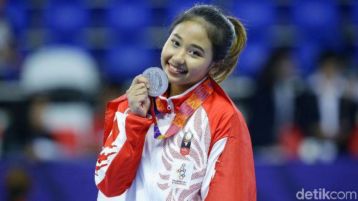 Rifda Irfanulutfi meraih perak di SEA Games 2019. (Grandyos Zafna/detikSport)