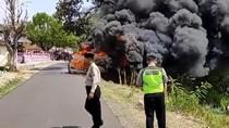 Polisi Temukan 3 Jeriken BBM dalam Mobil di Magetan yang Terbakar