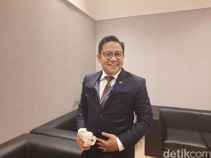 Wakil Ketua DPR Muhaimin Iskandar atau Cak Imin di Paviliun Indonesia UNFCCC-COP25.