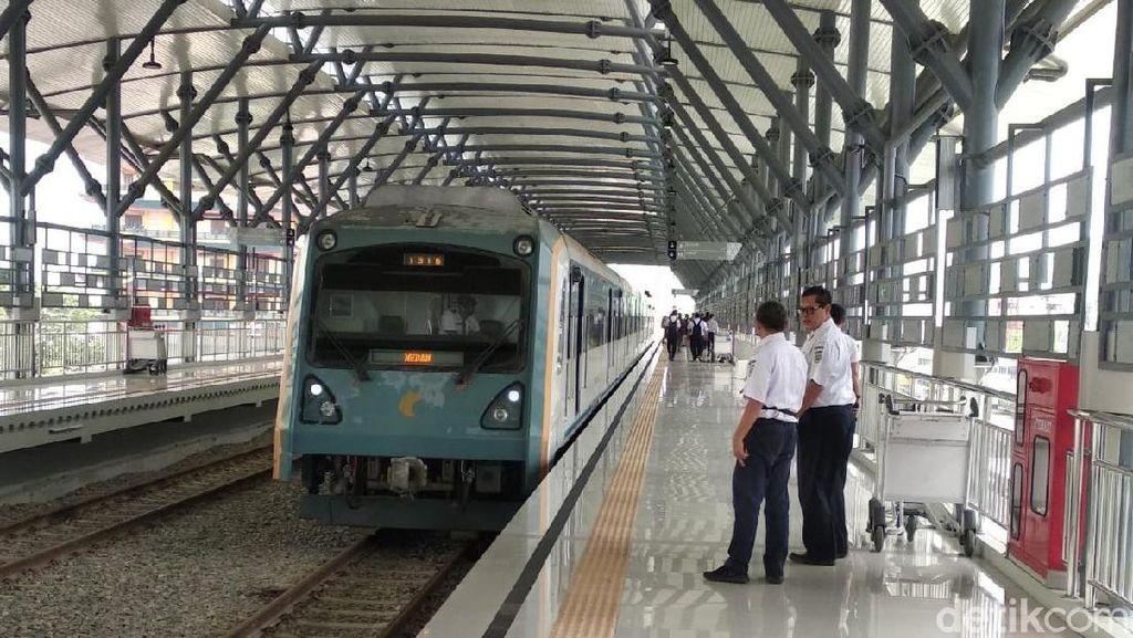 Jalur Layang Kereta Api di Medan Mulai Dioperasikan
