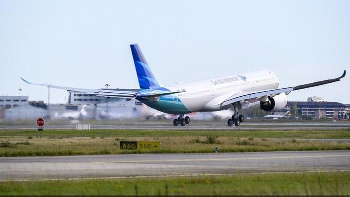 Pesawat Baru Garuda yang Angkut Harley dan Brompton Ilegal/Foto: Dok. Airbus