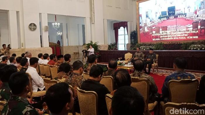 Foto: Ketua Dewan Pengarah BPIP Megawati Soekarnoputri di Kompleks Istana Kepresidenan, Jakarta Pusat. (Kanavino-detikcom)