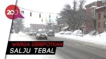 New York Diselimuti Salju Tebal