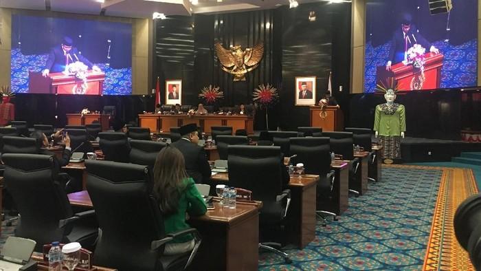 Anies Baswedan sampaikan pidato di DPRD DKI Jakarta (Arief Ikhsanudin-detikcom)