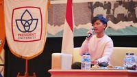 Kaesang Ajak Mahasiswa President University Jadi Wirausaha Kreatif