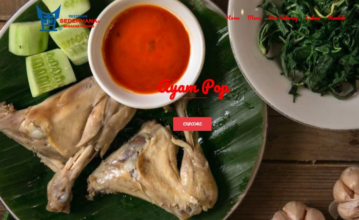 Foto: Screenshot website Restoran Sederhana.