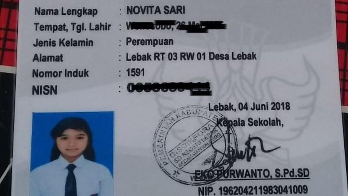Novita Sari, salah seorang gadis ABG yang hilang di Wonosobo. Foto: Istimewa