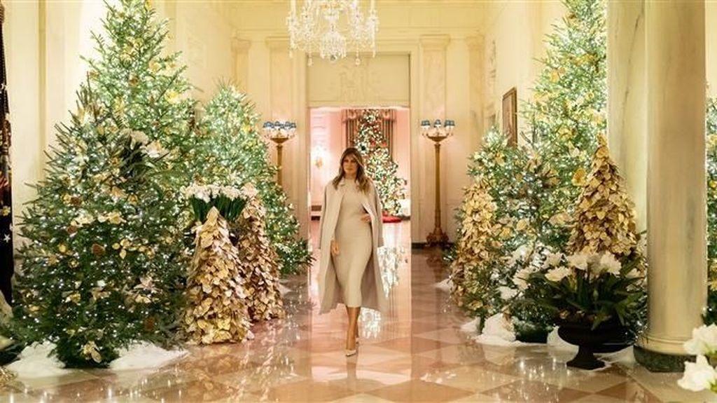 Lihat! Dekorasi Natal Gedung Putih Ala Melania Trump