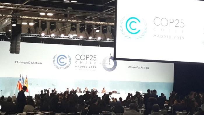 Foto: Konferensi Perubahan Iklim ke-25 yang digelar di Madrid, Spanyol, resmi dibuka (Mei Amelia Rahmat/detikcom)