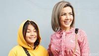 Barbie Kumalasari kini menggandeng putrinya hadir di sejumlah acara talkshow. Foto: Noel/detikFoto