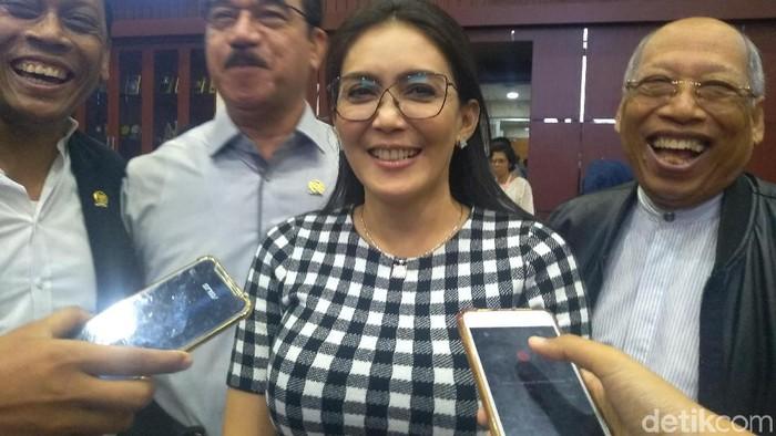 Wakil Ketua Baleg DPR Rieke Diah Pitaloka (Nur Azizah Rizki Astuti/detikcom)