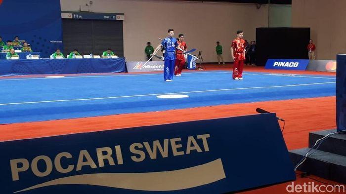 Wushu menambah emas lagi untuk Indonesia di SEA Games 2019. (Foto: Mercy Raya/detikSport)
