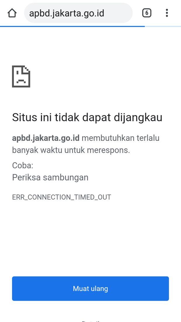 Situs APBD DKI sempat tak bisa diakses