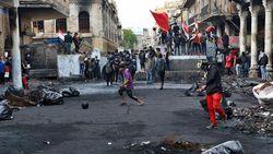Demonstran vs Polisi Bentrok 2 Hari di Irak, 10 Orang Tewas