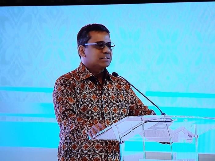 Menteri Keuangan Suahasil Nazara dalam acara Market Outlook 2020 Mandiri Privete