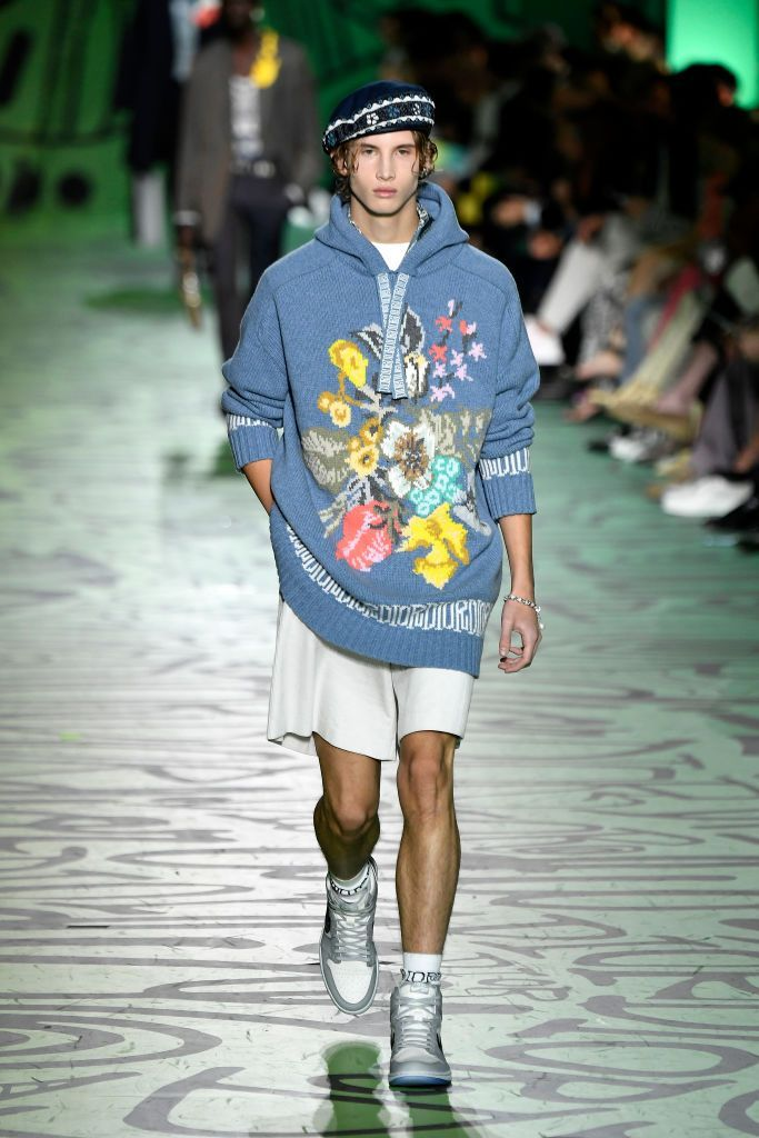 MIAMI, FLORIDA - DECEMBER 03: A model walks the runway at Dior Men's Pre-Fall 2020 Runway Show on December 03, 2019 in Miami, Florida. (Photo by Frazer Harrison/Getty Images)