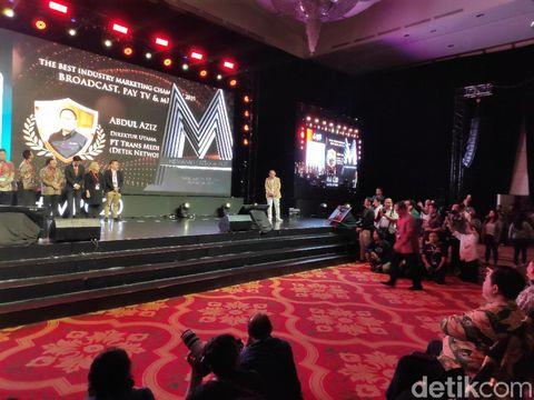 CEO detiknetwork Abdul Azis Raih The Best Industry Marketing Champion 2019