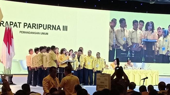 Foto: DPD-DPD Golkar dukung Airlangga Hartarto. (Gibran Maulana/detikcom).