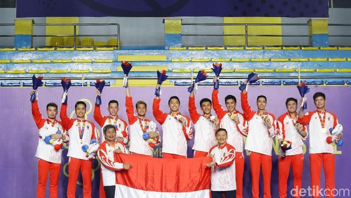 Kemenangan tim bulutangkis Indonesia di SEA Games 2019 (Grandyos Zafna/detikcom)