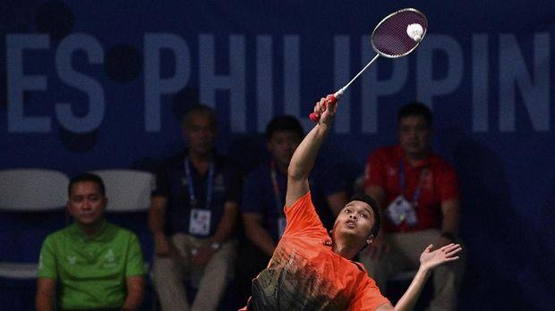 Anthony Ginting berhasil dua kali mengalahkan Chen Long di BWF World Tour Finals.