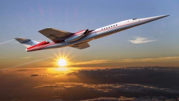 Waktu perjalanan yang ditawarkan dari New York ke London hanya dalam tiga jam 15 menit. Target produsen itu dari maskapaidan jet eksekutif. Pesawatnya mampu mengelola suara ledakan sonik (Foto: Aerion/CNN)
