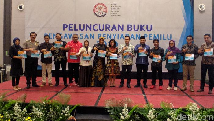 Foto: Luncurkan Buku Pengawasan Penyiaran Pemilu 2019, KPI Sorot Preferensi Pemilih (Jefrie-detikcom)