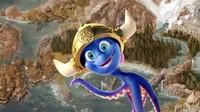 Rulantica memiliki maskot bernama Snorry, yaitu gurita imut yang memakai topi viking helmet dengan tanduk (The Europa-Park Water World)