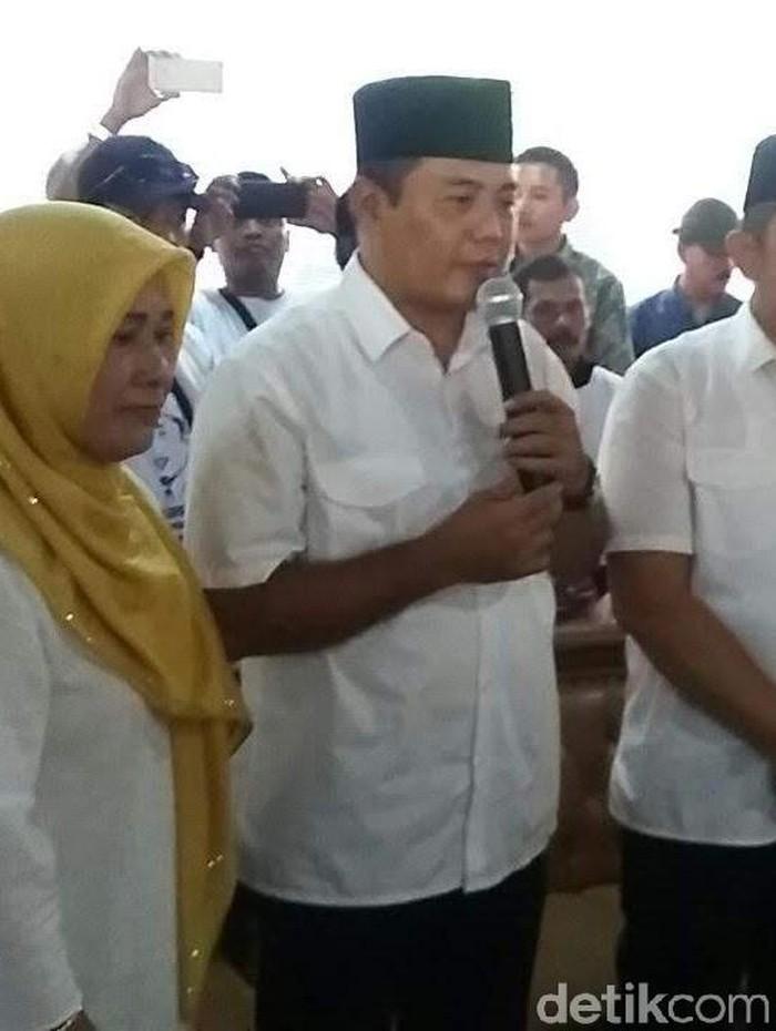 Bupati Karanganyar, Juliyatmono, Rabu (4/12/2019). Foto: Bayu Ardi Isnanto/detikcom