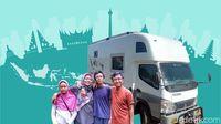 Naik Truk, Keluarga Kusmajadi Jelajahi Separuh Indonesia