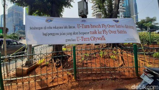 Sosialisasi Dulu, U-Turn Jl Satrio Jaksel Masih Bisa Dilintasi