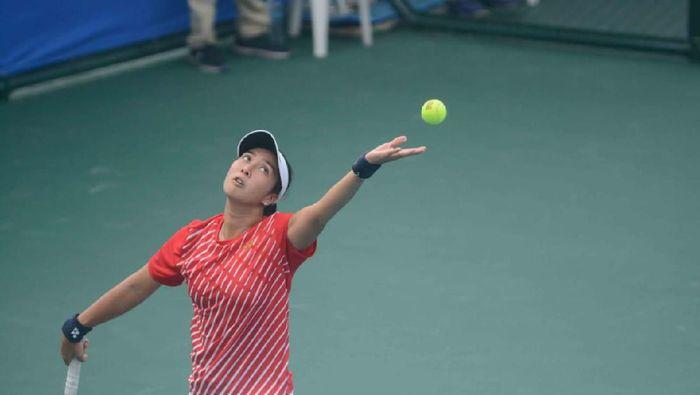 Aldila Sutjiadi melaju ke final tenis SEA Games 2019 Filipina. (Dwi Ari Setyadi/tennisindonesia.com)