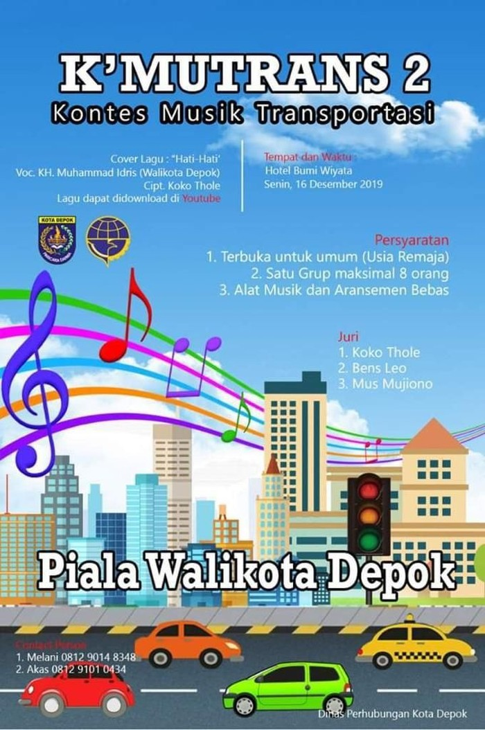 Poster lomba cover lagu Hati-hati (Foto: dok. Istimewa)