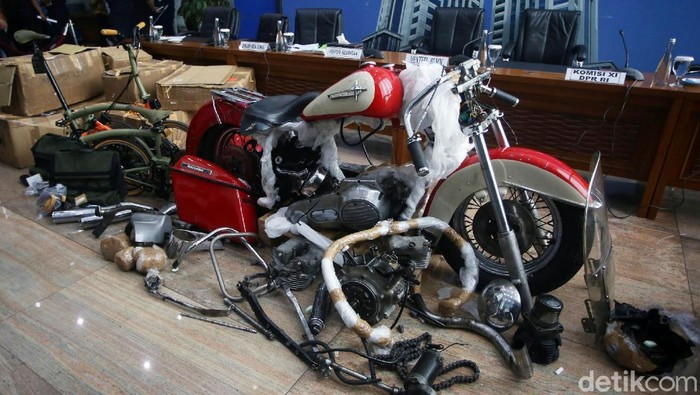 Harley-Davidson selundupan Garuda Indonesia. (Agung Pambudhy/detikcom)
