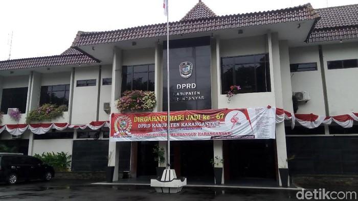 Gedung DPRD Karanganyar, Kamis (5/12/2019). (Bayu Ardi Isnanto/detikcom)