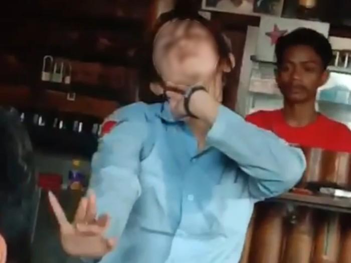 Siswi SMA yang berjoget di bawah pengaruh alkohol (Foto: Tangkapan layar video)