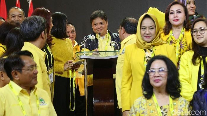 Airlangga Hartarto ditetapkan sebagai Ketum Golkar periode 2019-2024 dalam munas. (Agung Pambudhy/detikcom)
