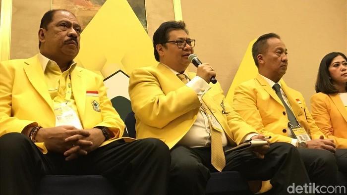 Ketua Umum Partai Golkar Airlangga Hartarto (Rolando/detikcom)